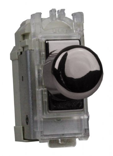 Varilight GPINTI Powergrid Module Iridium Black Intermediate Push-On/Off Switch (Dummy Dimmer) 6A
